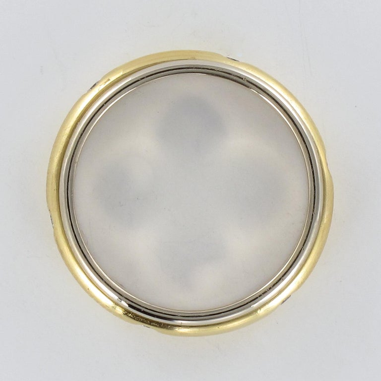 Modern White Gold Yellow Gold Diamond Mobile Wedding Ring For Sale 4