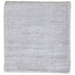 Modern White Hand-loomed Bamboo Silk Patina Rug