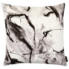 Modern White Marble-Look Cotton Velvet Cushion by 17 Patterns
