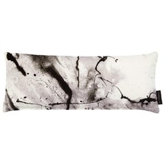 Modern White Marble-Look Cotton Velvet Lumbar Cushion by 17 Patterns