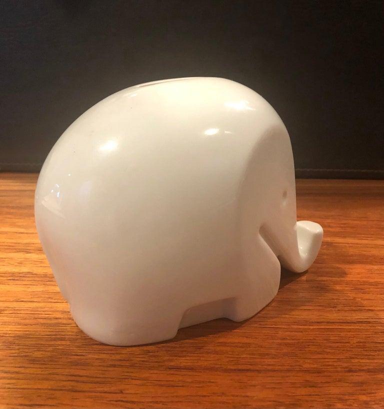 German Modern White Porcelain Piggy Bank