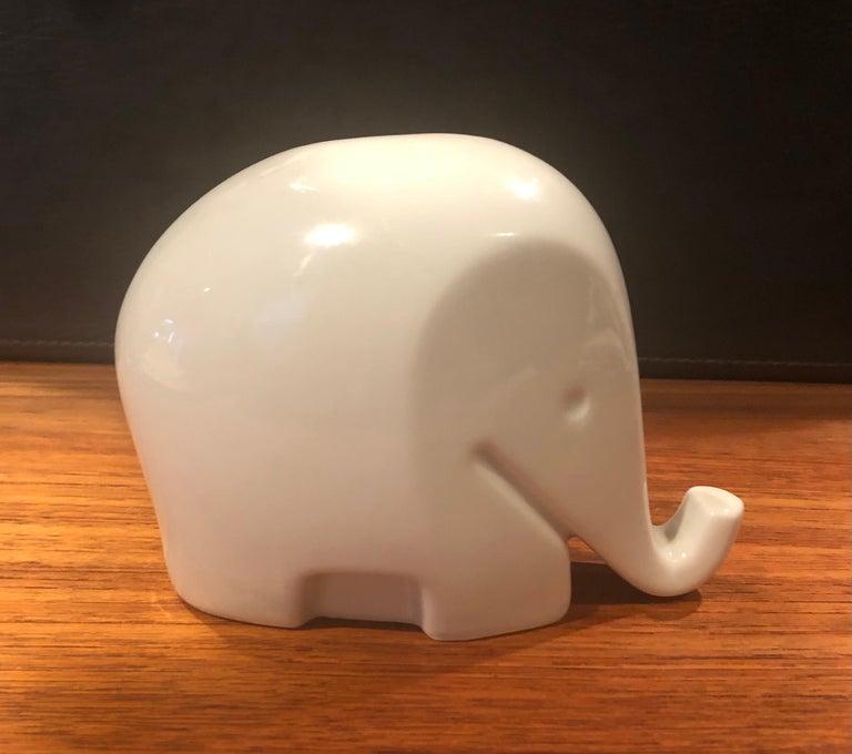 Glazed Modern White Porcelain Piggy Bank