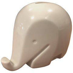 "Modern White Porcelain Piggy Bank ""Drumbo"" by Luigi Colani for Hochst"