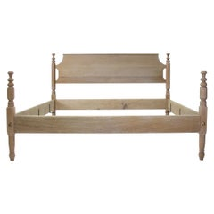 "White Oak Four Poster ""Tulip Top"" Bed with Turned Posts by Scott James Furniture"