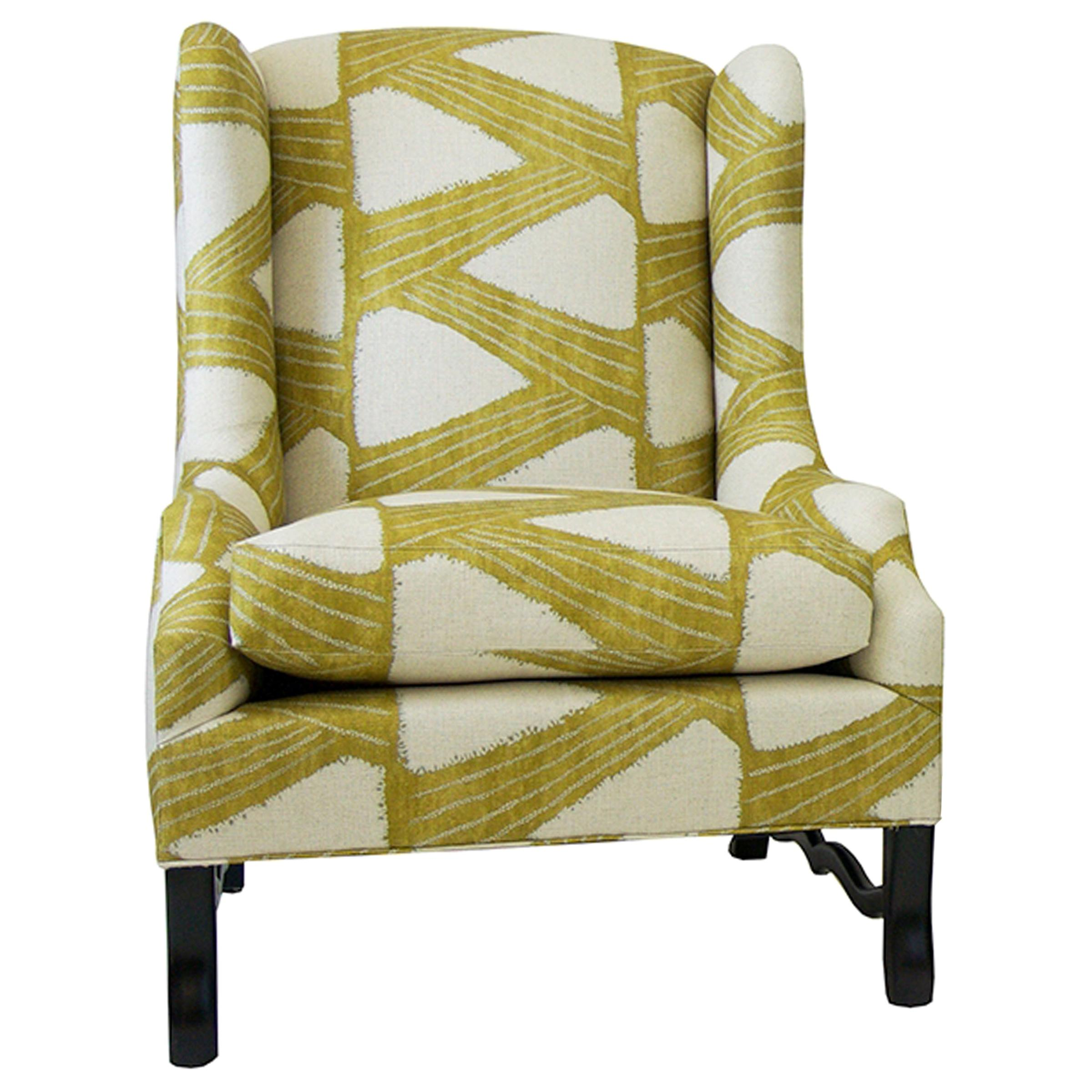 Modern Wing Chair with Loose Seat Cushion