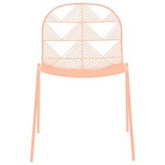 "Modern Wire ""Betty"" Chair in Peachy Pink by Bend Goods"