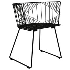 "Modern Wire ""Captain"" Chair in Black by Bend Goods"