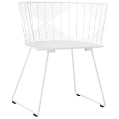 "Modern Wire ""Captain"" Chair in White by Bend Goods"
