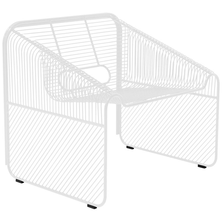 """Modern Wire Lounge Chair """"Hot Seat"""" in White by Bend Goods For Sale"""