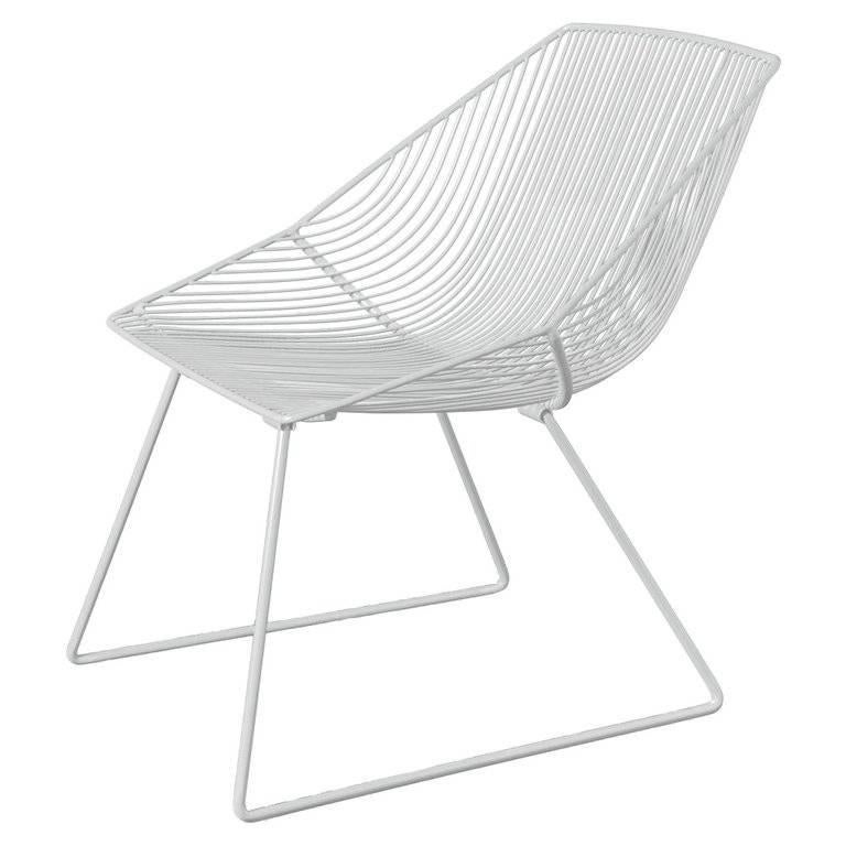 American Modern Wire Lounge Chair