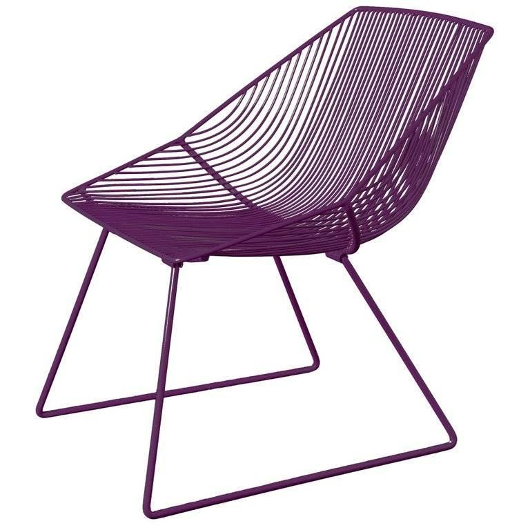 Galvanized Modern Wire Lounge Chair