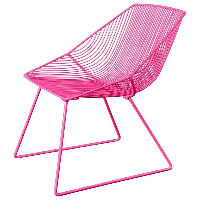 Galvanized Modern Wire Lounge Chair