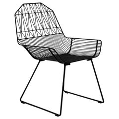 """Modern Wire Lounge """"Farmhouse Chair"""" in Black by Bend Goods"""