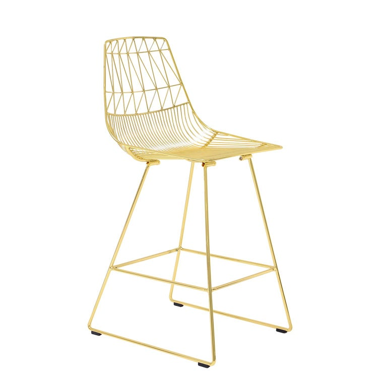 Wire Counter Stool | Modern Wire Lucy Counter Stool By Bend Goods At 1stdibs