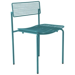 Modern Wire Rachel Chair in Peacock Blue by Bend Goods