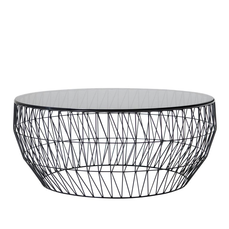 Mid-Century Modern Modern Wire Round Coffee Table by Bend Goods For Sale