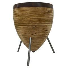 Modern Wood and Steel Stool and Table 'Med'