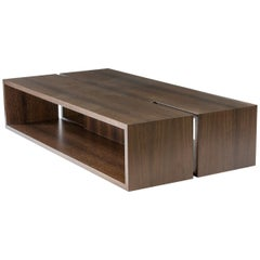 Modern Wood Coffee Table in Fumed Ebony Oak, by Studio DiPaolo