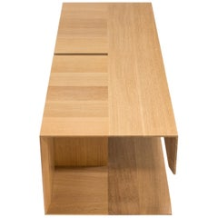 Modern Wood Coffee Table in Tapered White Oak, by Studio DiPaolo