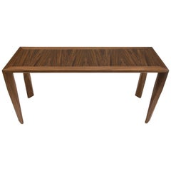 Modern Wood Console Table, in Walnut, by Studio DiPaolo