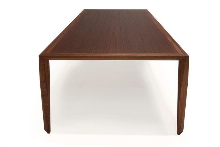 American Modern Wood Dining Table, in Sapele, by Studio DiPaolo For Sale
