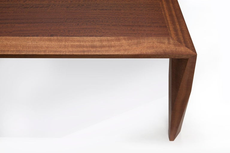 Modern Wood Dining Table, in Sapele, by Studio DiPaolo In New Condition For Sale In Oakland, CA