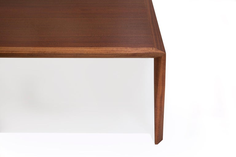 Contemporary Modern Wood Dining Table, in Sapele, by Studio DiPaolo For Sale