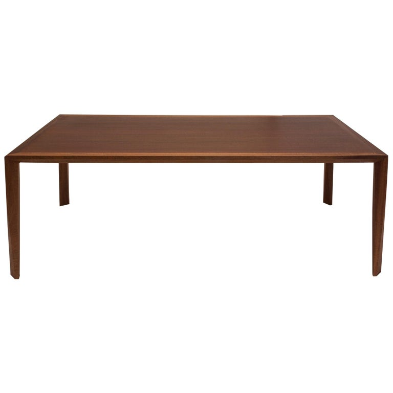 Modern Wood Dining Table, in Sapele, by Studio DiPaolo For Sale