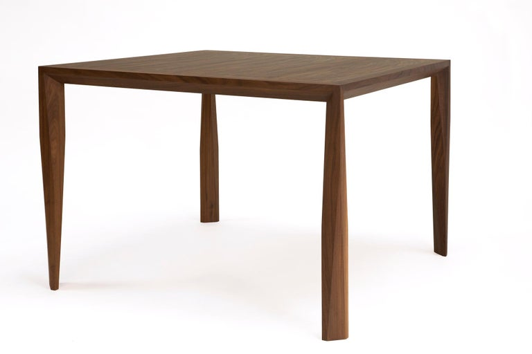 American Modern Wood Dining Table, in Walnut, by Studio DiPaolo For Sale