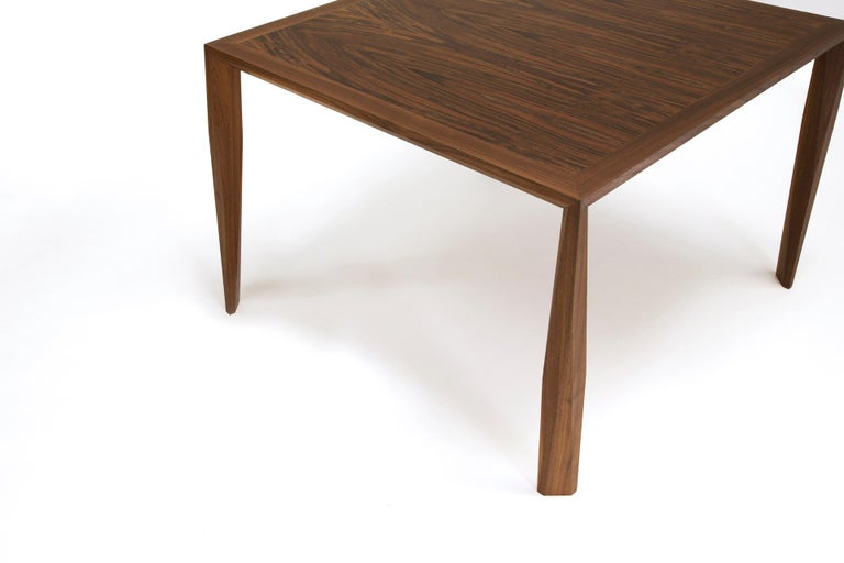 Hand-Crafted Modern Wood Dining Table, in Walnut, by Studio DiPaolo For Sale