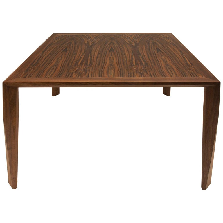 Modern Wood Dining Table, in Walnut, by Studio DiPaolo For Sale