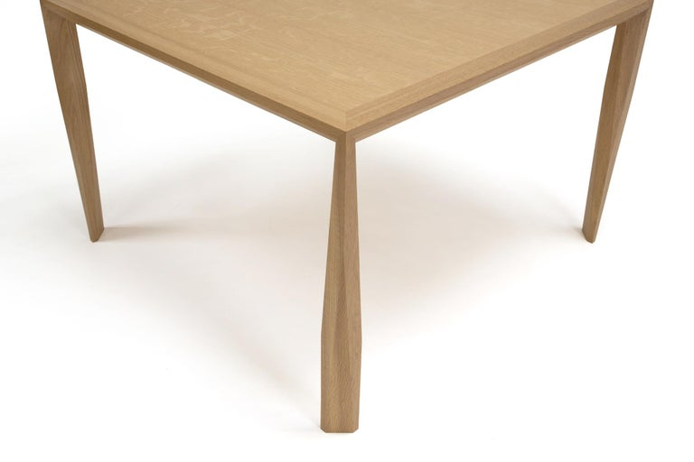 American Modern Wood Dining Table, in White Oak, by Studio DiPaolo For Sale