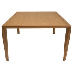 Modern Wood Dining Table, in White Oak, by Studio DiPaolo