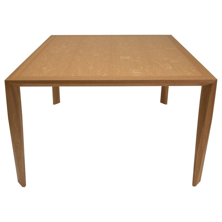Modern Wood Dining Table, in White Oak, by Studio DiPaolo For Sale