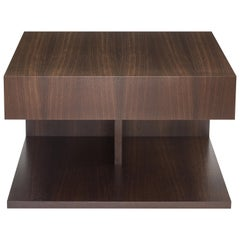 Modern Wood End Table in Fumed Ebony Oak, by Studio DiPaolo