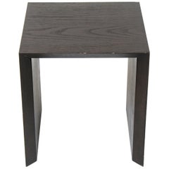 Modern Wood Square Top Side Table
