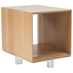 Modern Wood Stool in Solid White Oak, by Studio DiPaolo