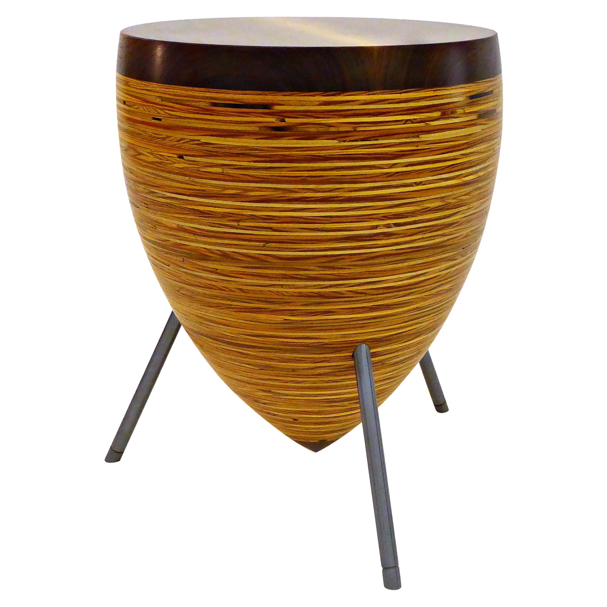 Modern Wooden and Steel Stool and Table 'Small'