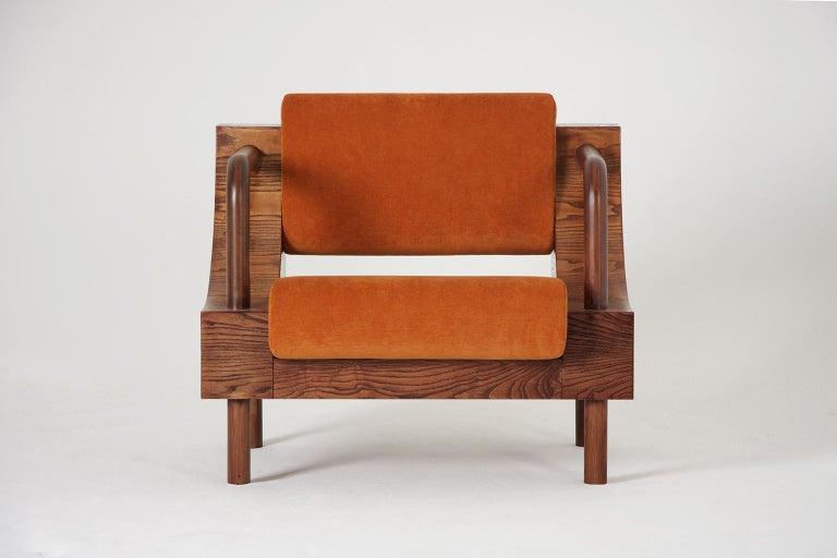 European Modern Wooden Armchair from