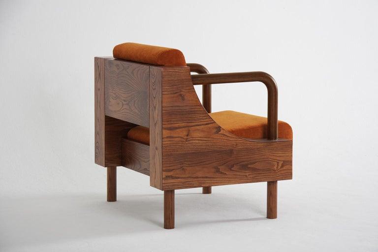 Modern Wooden Armchair from