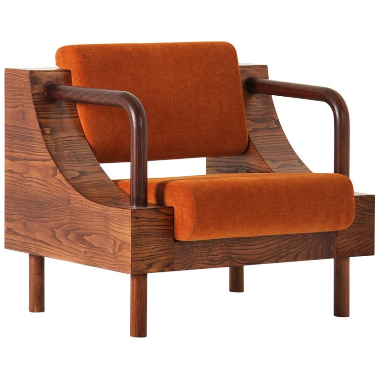 "Modern Wooden Armchair from ""Normative"" Collection For Sale"