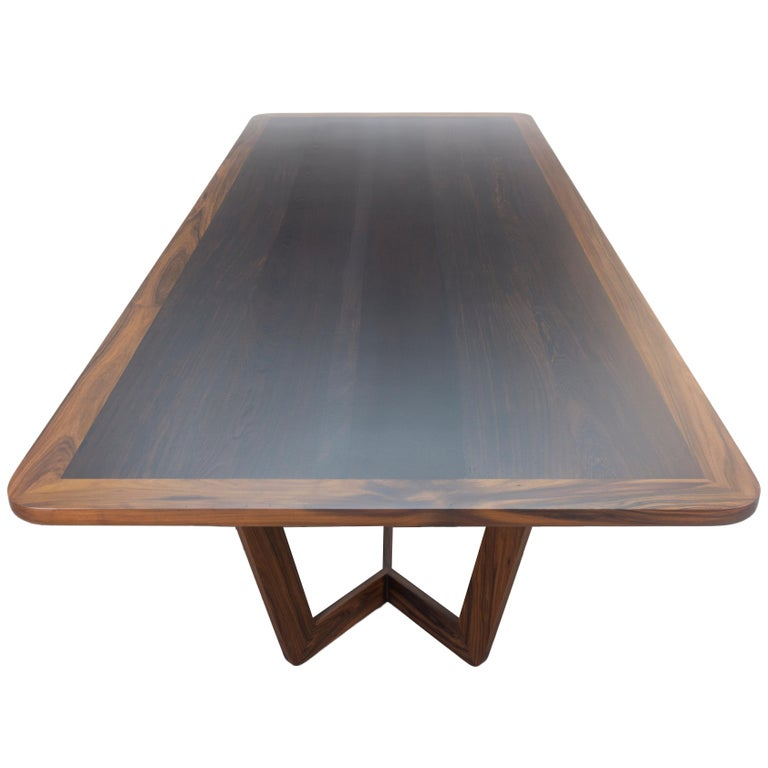 Modern Wooden Dining Table, Customizable For Sale 2