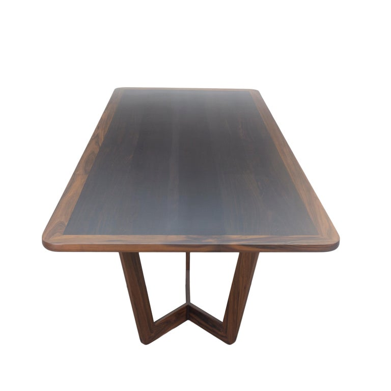 Modern Wooden Dining Table, Customizable For Sale 3