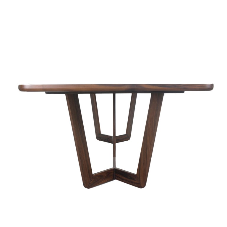 Modern Wooden Dining Table, Customizable For Sale 4