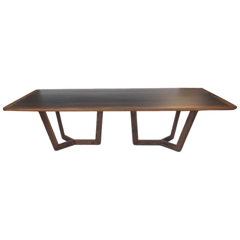 Modern Wooden Dining Table, Customizable For Sale