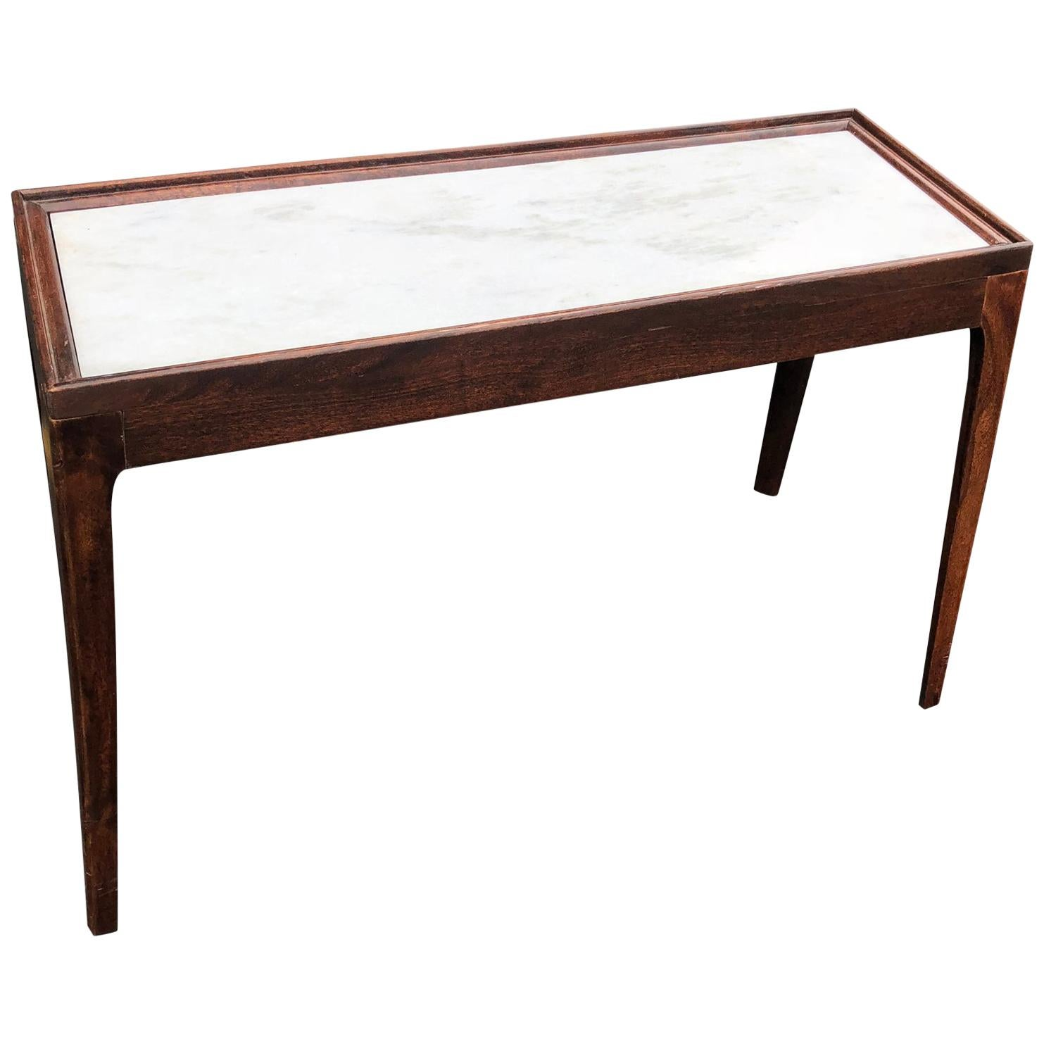 Modern Wooden Marble Top Console