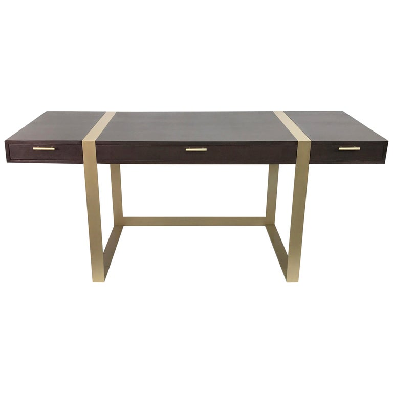 Modern Writing Desk with Three Drawers For Sale