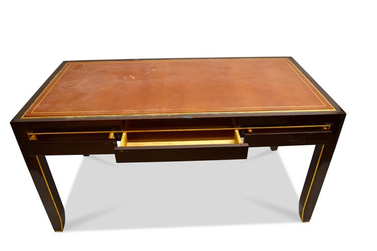 Modern Writing Table, Signed John Boone In Distressed Condition For Sale In New York, NY