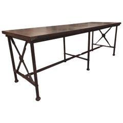 Modern Wrought Iron Giacometti Style Large Table