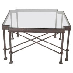 Modern Wrought Iron Giacometti Style Side Table